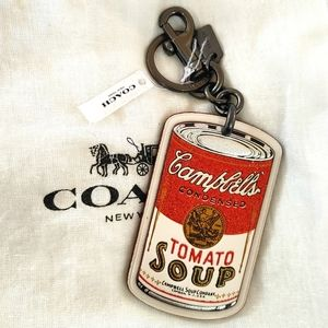 NWT Coach Campbell's Tomato Soup Keychain / Charm